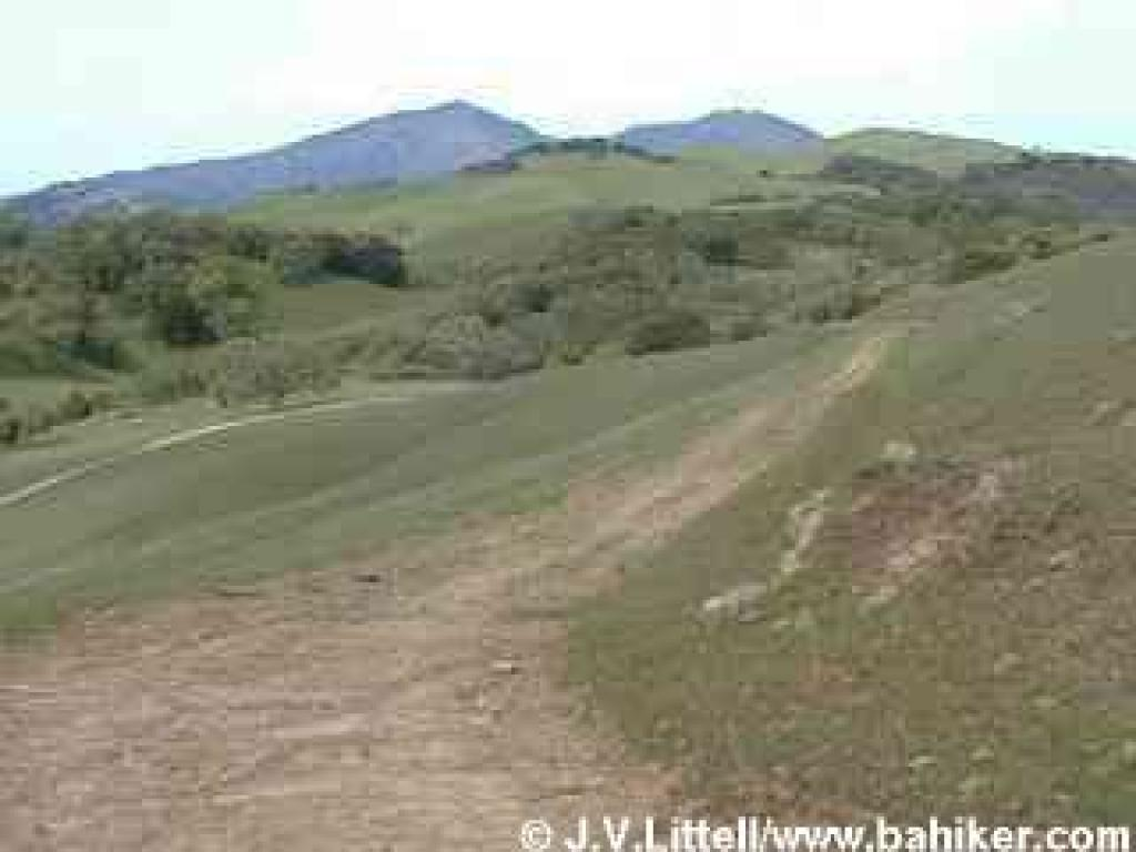 Volvon Trail and a view of Mount Diablo