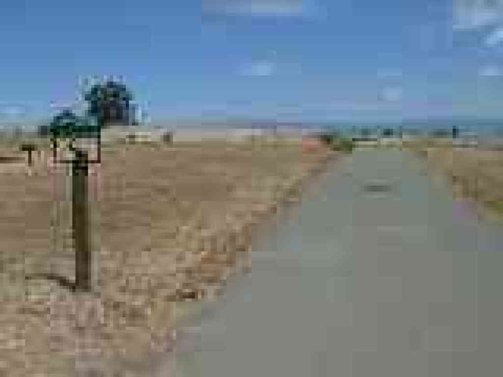 Paved trail to pier