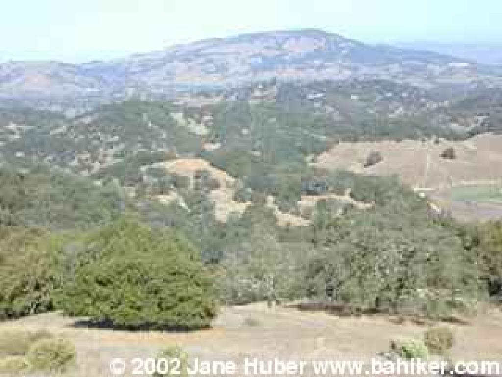 View to Mount Burdell from Montura Fire Road