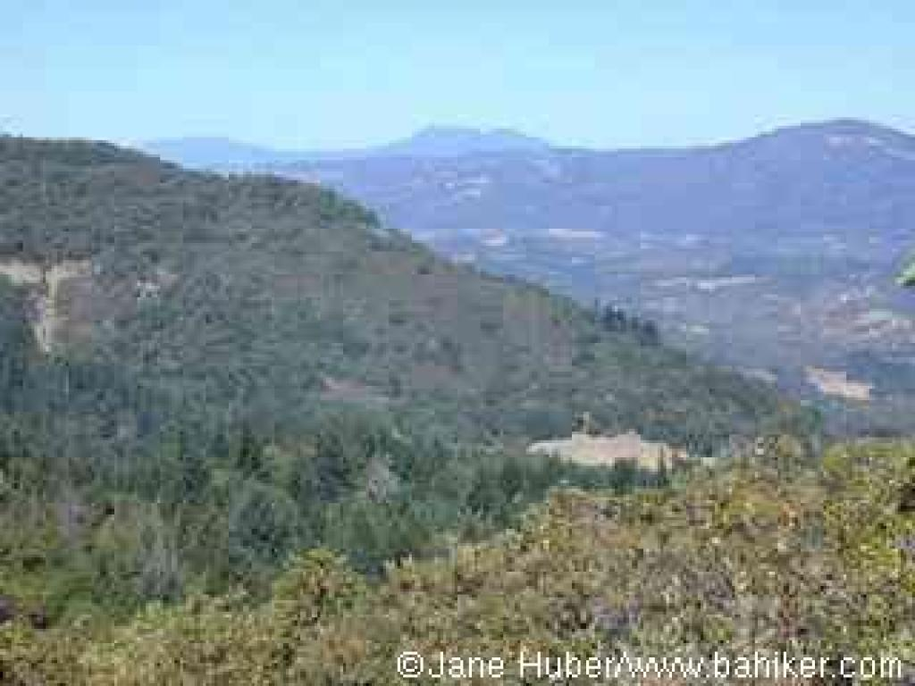 View north to Mount St. Helena from Sonoma Ridge Trail