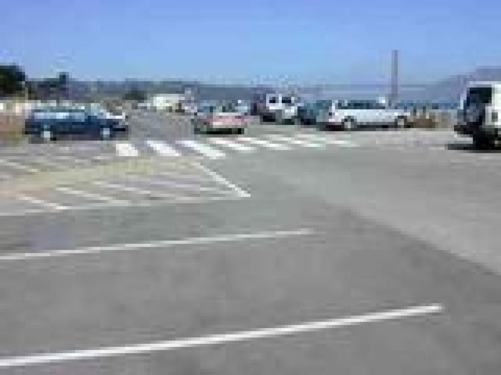 East Beach parking lot