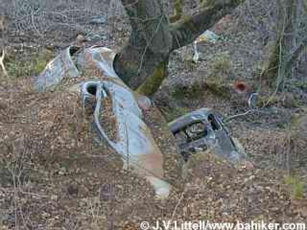 Old crashed cars