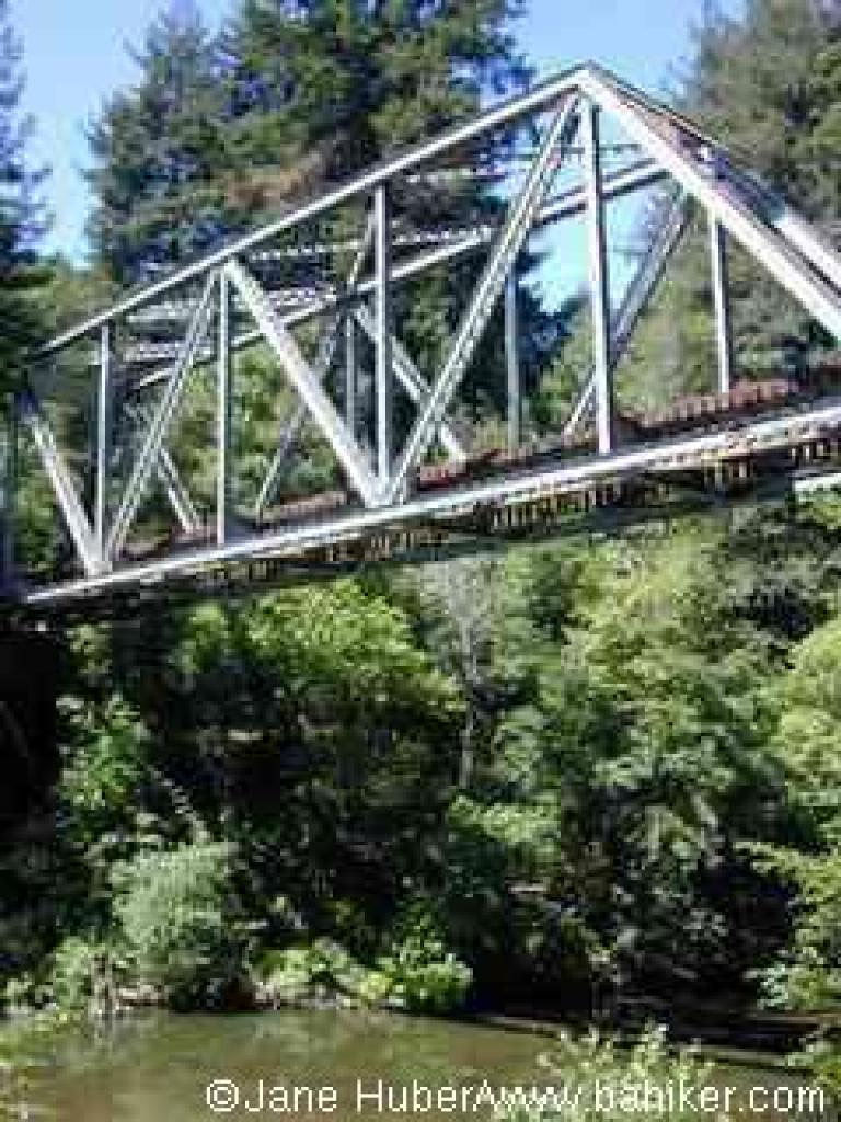 Trestle and river