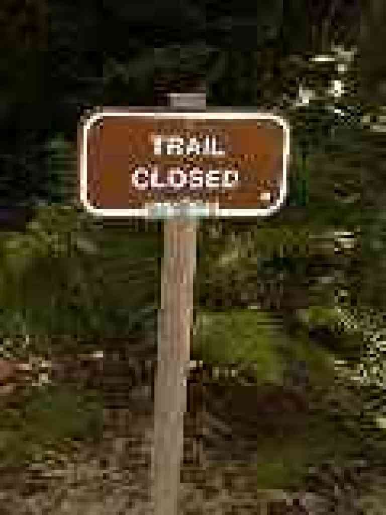Closed portion of Iverson Trail